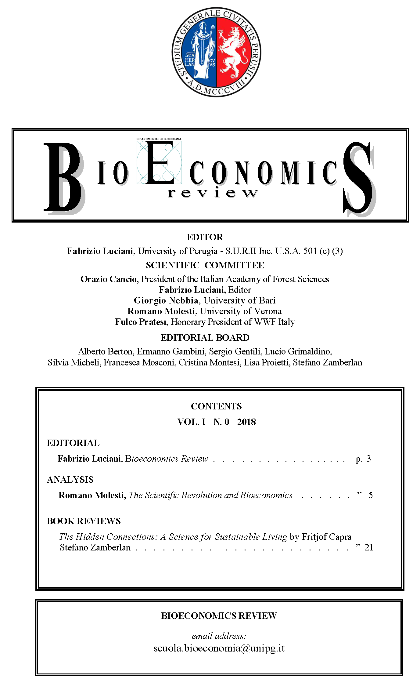 Book Review | BIOECONOMICS REVIEW